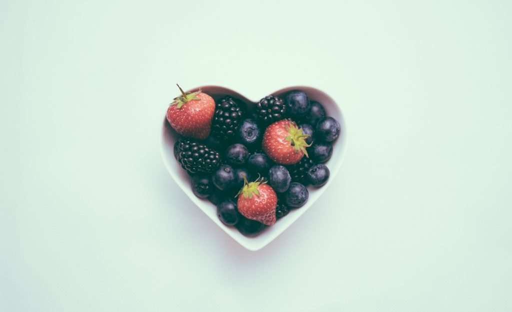 National Heart Awareness Month Heart with Berries